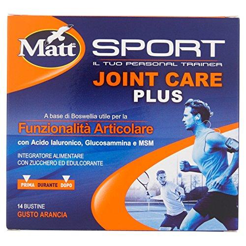 Matt Sport Joint Care Plus - Integratore Alimentare in Polvere con Acido Ialuronico e Boswellia per la Funzionalità Articolare - 14 Bustine