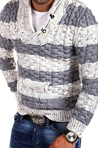 Tazzio Strickpullover mit Schalkragen Pullover 15-470 Weiß