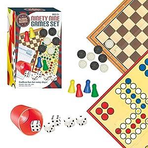 Global Gizmos - Set de Juegos de Mesa, para 4 Jugadores (Benross Group 50820) (Importado)