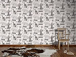 A.S. Création Papiertapete Boys and Girls Ökotapete Tapete Kindertapete 10,05 m x 0,53 m grau metallic Made in Germany 936251 93625-1 von A.S. Création auf TapetenShop