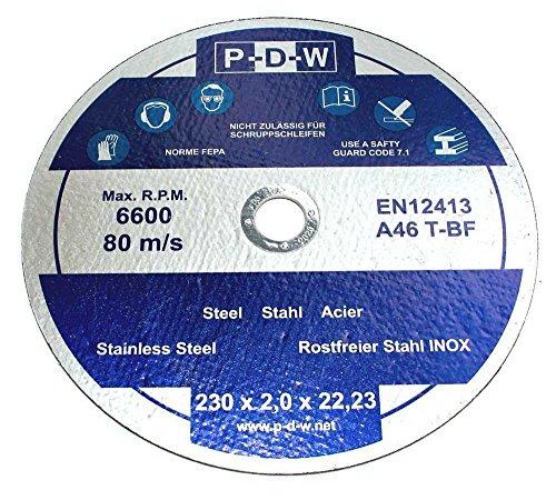 10 INOX-Trennscheiben Ø 230 mm │ 230x2,0 mm │ für Winkelschleifer │ Flexscheiben