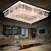 JJ Moderne LED Deckenleuchte Rechteckige Licht Atmosphre Crystal Flur Schlafzimmer Wohnzimmer Deckenlampen Minimalistischen