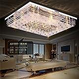 JJ Moderne LED Deckenleuchte rechteckige LED Licht Atmosphäre crystal Flur, Schlafzimmer, Wohnzimmer Deckenlampen minimalistischen modernen Lampen warmen remote 60*40cm, 220V-240V