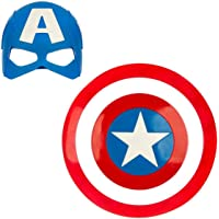 Indian Express Captain America Basic Printed Shield and Mask Combo for Kids