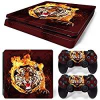 ZoomHit Ps4 Slim Playstation 4 Slim Console Skin Decal Sticker Tiger Animal + 2 Controller Skins Set (Slim Only)