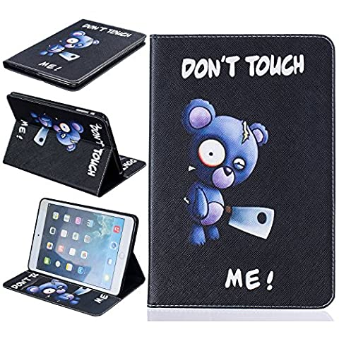 BONROY® Tablet Apple iPad Mini 1/2/3 Hülle Etui Case Mode gemalt Muster Telefon-Kasten mit Standfunktion Karteneinschub und Magnetverschluß für Apple iPad Mini 1/2/3