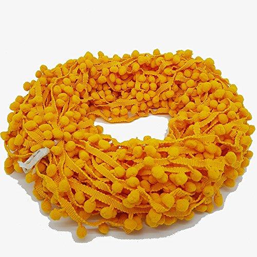 22metre pompons galon à coudre Craft 10mm Bobble Frange Pompon Accessoires de haute qualité en grenier® 10mm jaune moutarde