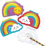 Baker Ross AT966 Regenboog Notitieboekjes (12 stuks) Speelgoed en Traktaties voor Kinderen