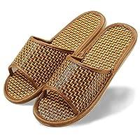 DYY Zapatillas de bambú y ratán para hombres y mujeres, zapatillas de bambú de primavera y verano, sandalias de pareja, interior de casa,Hombres y mujer,39-40 es adecua
