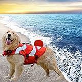 Running Pet Haustier Rettungsweste Hundeschwimmweste Fisch Stil Schwimmweste einfacher Handgriff für Small Medium Large Hunde Schwimmtraining Hundeweste Schwimmweste Schwimmhilfe Life Jacket Wassersport