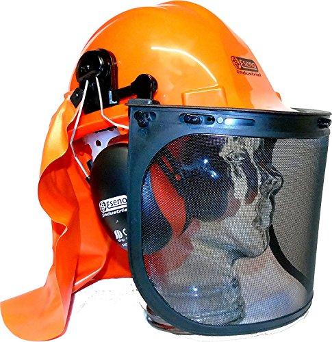 Eseno industriale motosega/forestale casco di sicurezza kit con protezione per orecchie, visiere e collo guardia