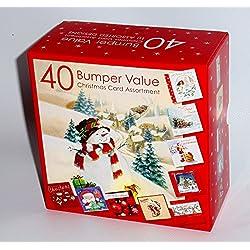 Caja de 40 tarjetas de Navidad tradicional, 1 pack