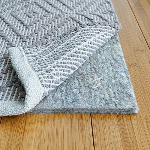 Teppich Pad Central, 100% Filz Teppich Pad, extra Thick- Kissen, Komfort und Schutz (5' x 7') grau -