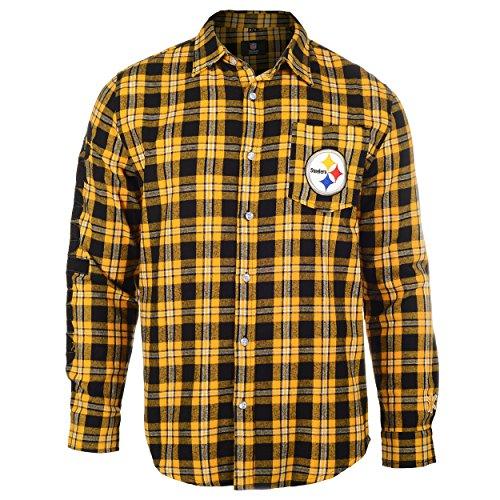 ordmark Basic Flanell Long Sleeve Shirt-Pick Team, Herren, schwarz ()