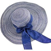 Moollyfox Elegancia Sombreros de Paja de Sol Gorra de Playa Para Mujer Ala  Ancha Sombrero de d088c0bfeaa