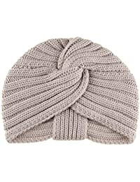 Blush Chunky Rib Knit Cashmere Turban