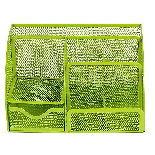 Preisvergleich Produktbild YOKIRIN Desktop Storage Box || 3 Fach Stifthalter Karten / Feder / Bleistift / Handy / Fernbedienung / Kosmetik Bürobedarf Behälter || Sammlung Schreibtisch Organizer (Grün)