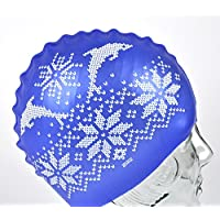 Knitted Dolphins Pattern - Rubber Shower Cap / Swim Cap