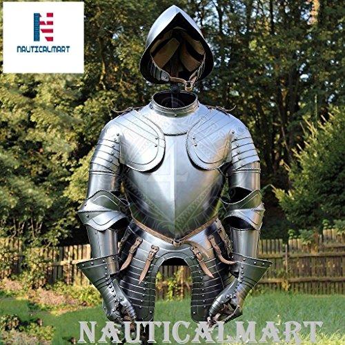 Armour Mittelalter Armor Knight tragbar Anzug Armor Kostüm mit Helm (Benutzerdefinierte Halloween Requisiten)