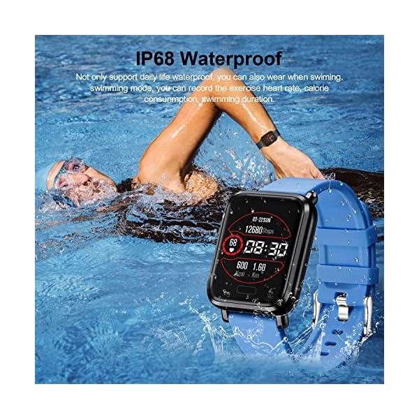 Tipmant Reloj Inteligente Mujer Hombre Smartwatch Pulsera de Actividad Inteligente Impermeable IP68 Pulsómetros… 7