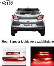 Fabtec Car Rear Bumper Break Light DRL Light With Knife Style For (Suzuki Baleno)