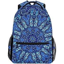 Mochila Escolar de Mandala Azul