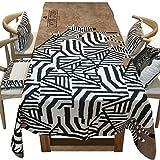 Stampa motivo zebrato, tovaglia bianca e nera cammello - tovaglia rettangolare da caffè (dimensioni : 140*140cm)