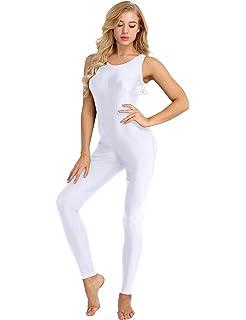 iiniim Femme Justaucorps de Danse Classique Ballet Yoga Gymnastics Sports  Body Combinaison sans Manches Vêtements de 3395668ada9