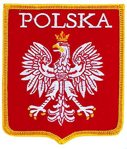 Patch écusson brodé blason armoirie pologne polonais drapeau thermocollant