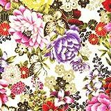 Fat Quarter asiatischen Garten Schmetterlinge Blumenmuster