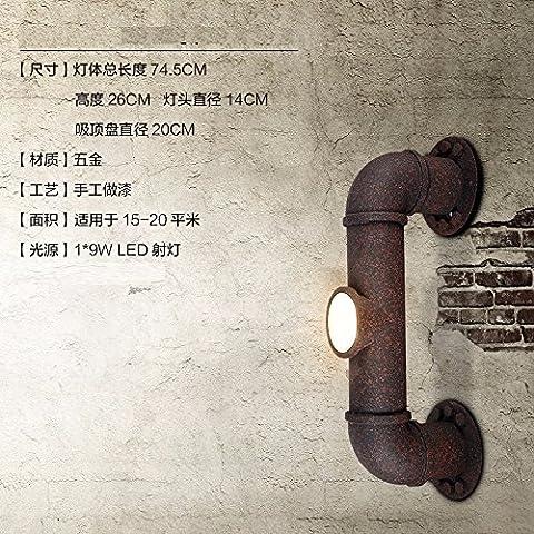 Winson Loft personalità creative Lampade da parete retrò Ristorante Bar American Iron tubo luci a parete corsia vento industriale , Rusty