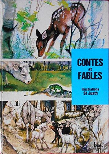 Contes et fables, illustrations de Saint-Justh : Fables de La Fontaine - L'album de Bambi - La chèvre et les biquets