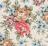 AS4HOME Klebefolie - Möbelfolie Blumen Romantic Rosen - 45 cm x 200 cm selbstklebende Folie - Dekorfolie Schrankfolie