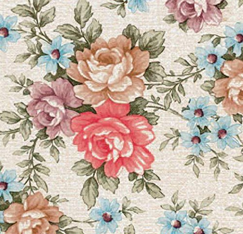Klebefolie - Möbelfolie Blumen Romantic Rosen - 45 cm x 200 cm selbstklebende Folie - Dekorfolie Schrankfolie -