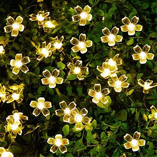7 metros 50 luces solar luz secuencia cereza LED luz