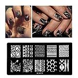 Modèle Watopi DIY Nail Art Stamp Stamp estampage des plaques Modèle de manucure