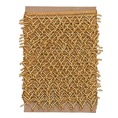 SewLab Goldene & Rote Perlen Fringe Dekorative Polsterung Band Handwerk Versorgung durch den Hof