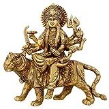 Shalinindia Maa Durga Statue Brass Religious Gifts Idol Hinduism Decor Durga Puja 8.5 Inch,2.8 Kg