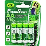 Power Smart 1100mAH X4 Pcs Power Smart PS 1100 Rechargable AA NiCD Battery For Cameras Toys Remote Etc Rechargeable Ni-Cd Battery