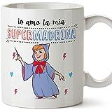 Mugffins Madrina Tazza/Mug - Io Amo la Mia Super Madrina - Idea Regalo Giorno di Pasqua/Battesimo - Tazza Migliore Madrina in