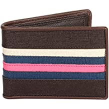 OMAX Brown 100% Genuine Leather Slim Wallet ,6 Card Slot, Credit Cards, Hand Crafted, Money, holder Wallet for Men, Boys Suitable for Formals, Casual, birthday, Festival Gift and Anniversary Gift Comes packed in a box