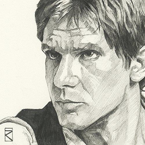 """Star Wars \""""Han Solo Sketch, 30 x 30 cm, Leinwanddruck, Mehrfarbig"""