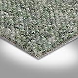 BODENMEISTER BM72181 Teppichboden Auslegware Meterware Schlinge 200, 300, 400 und 500 cm breit, verschiedene Längen, Variante:, Grün, 4 x 3 m