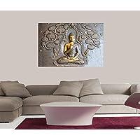 Masstone Sparkle Coated Vinyl Spiritual Wall Painting, Multicolour, 24 x 18 Inch