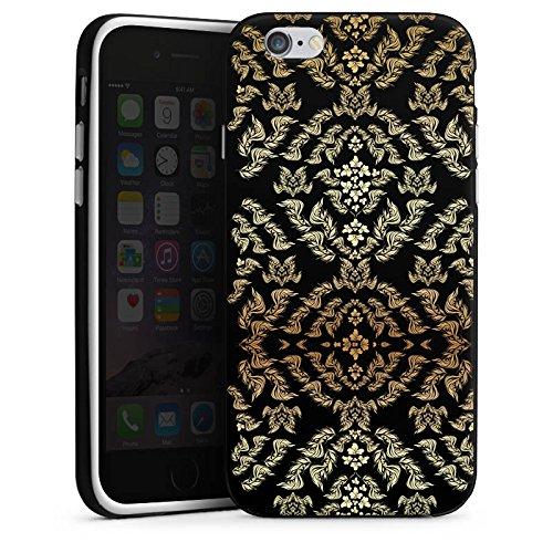 Apple iPhone 4 Housse Étui Silicone Coque Protection Ornements Motif Motif Housse en silicone noir / blanc