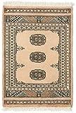 CarpetVista Pakistan Buchara 2ply Teppich 63x90 Orientalischer Teppich