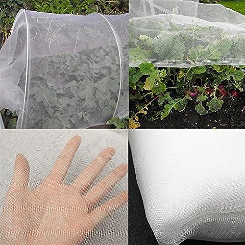 Filet de jardin en maille fine Filet légumes Flower Garden Orchard Filet Moustiquaire pour la protection des plantes Fruits, fleurs, légumes 10*2.4m