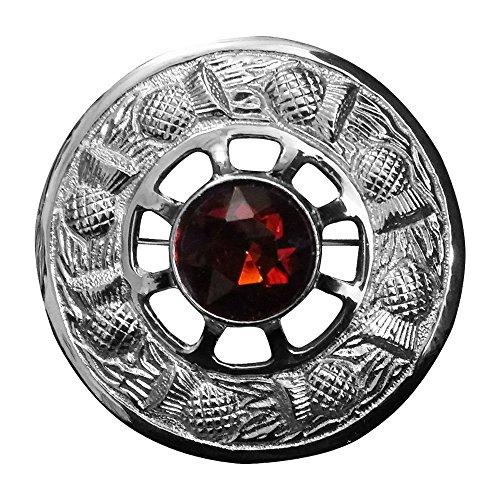 Kilt Brosche Fly Plaid Braun Stein Silber Finish/Damen Band Brosche/Distel Emblem Broschen