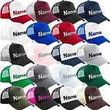 Nashville print factory Trucker Snapback Cap Bestickt mit Wunschtext Name Stickerei Wunschstickerei Mütze Basecap (Bright Royal/Bright Royal)