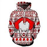 Unisex Paare Weihnachtsmann mit Kapuze Sweatshirt 3D gedruckt Quick Dry Sweat Shirt Langarm Hoodie Taschen Top WY-234